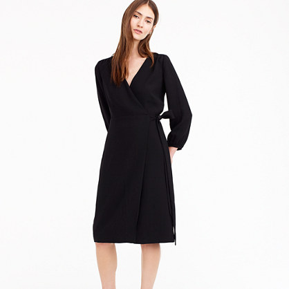 Wrap dress in 365 crepe