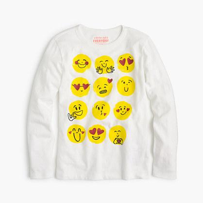 Girl's multi-emoji T-shirt