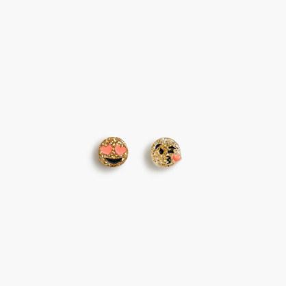 Girls' emoji stud earrings