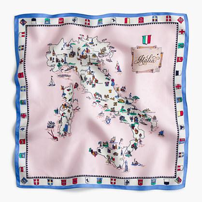 Destination Italian silk scarf in