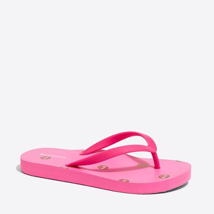 Girls' emoji flip-flops