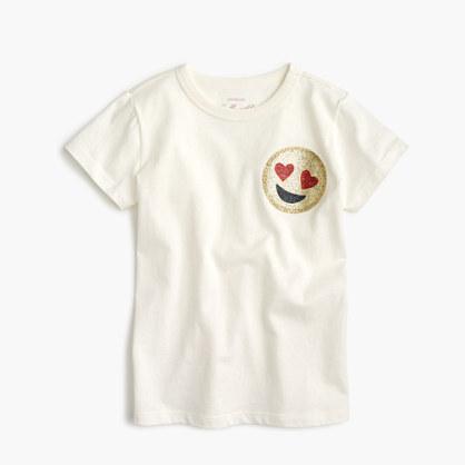 Girls' short-sleeve emoji T-shirt
